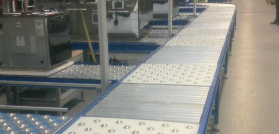 roller assembly line